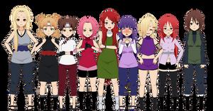 Naruto Girls (Shippuden) - Export Set 1