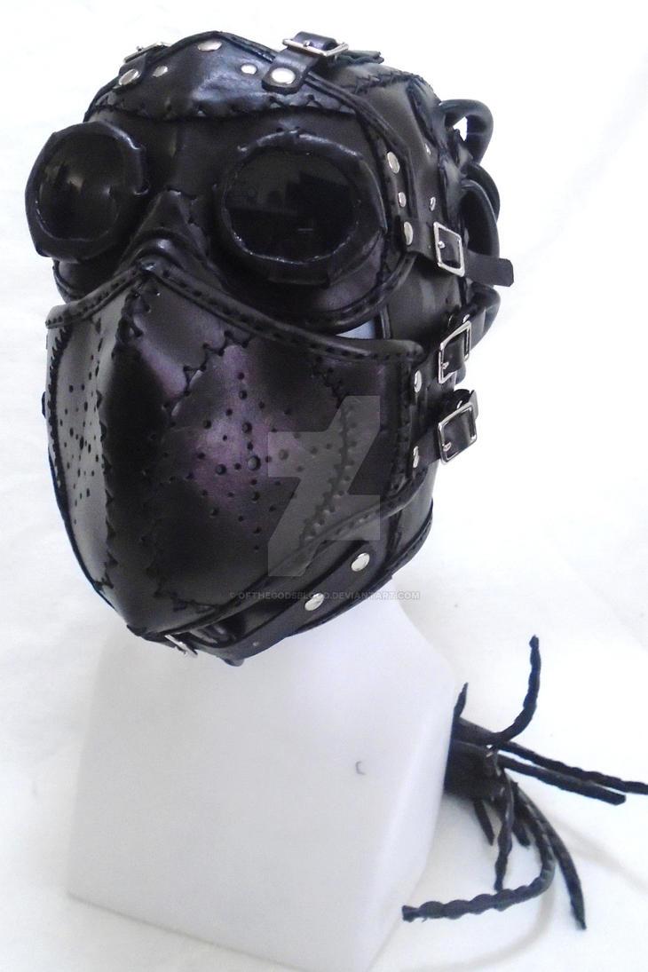 Post Apocalyptic Leather Full Face Mask by OfTheGodsBlood