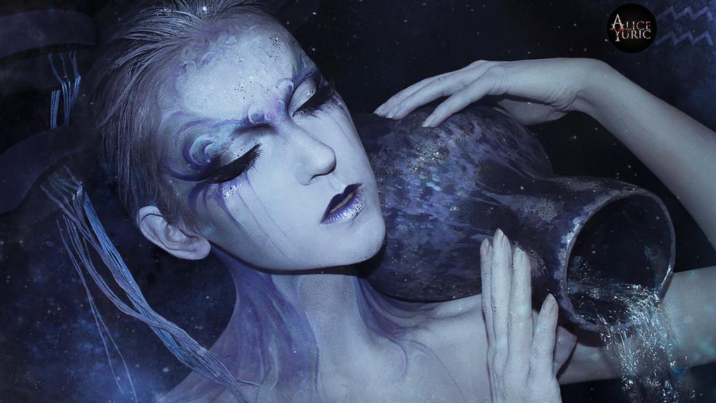MAKEUP - Zodiac signs [Aquarius] by AliceYuric