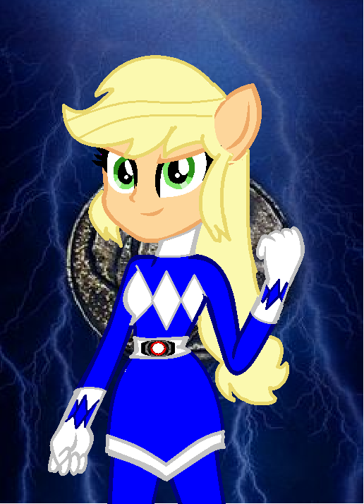 Eqg AJ the blue ranger by cam-and-sister-paint