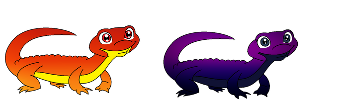 Geckos by cam-and-sister-paint