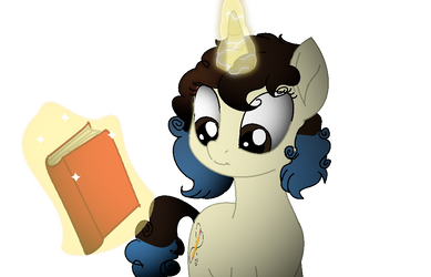 Shining Sketch Holds Her Book  by cam-and-sister-paint