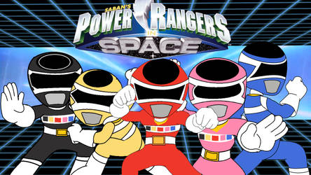 Power Rangers In Space Chibi by cam-and-sister-paint