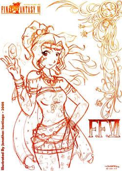 FFVI - Terra Sketch01