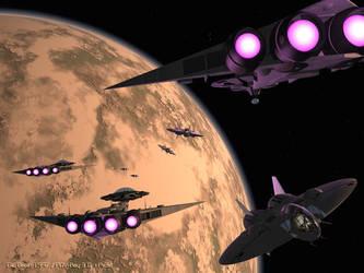 PovRay Starfleet by GilB57