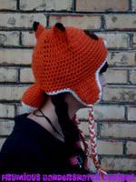 Crochet Fox Hat View 2 by NightsMemories