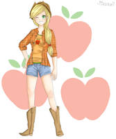 Applejack (Human) by Mina-Chan7