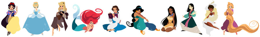 Disney princess by Umintsu