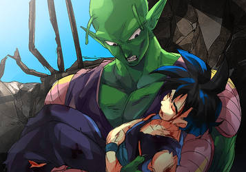 Piccolo and Gohan by Umintsu
