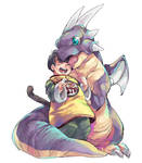 Haiya Dragon and Gohan