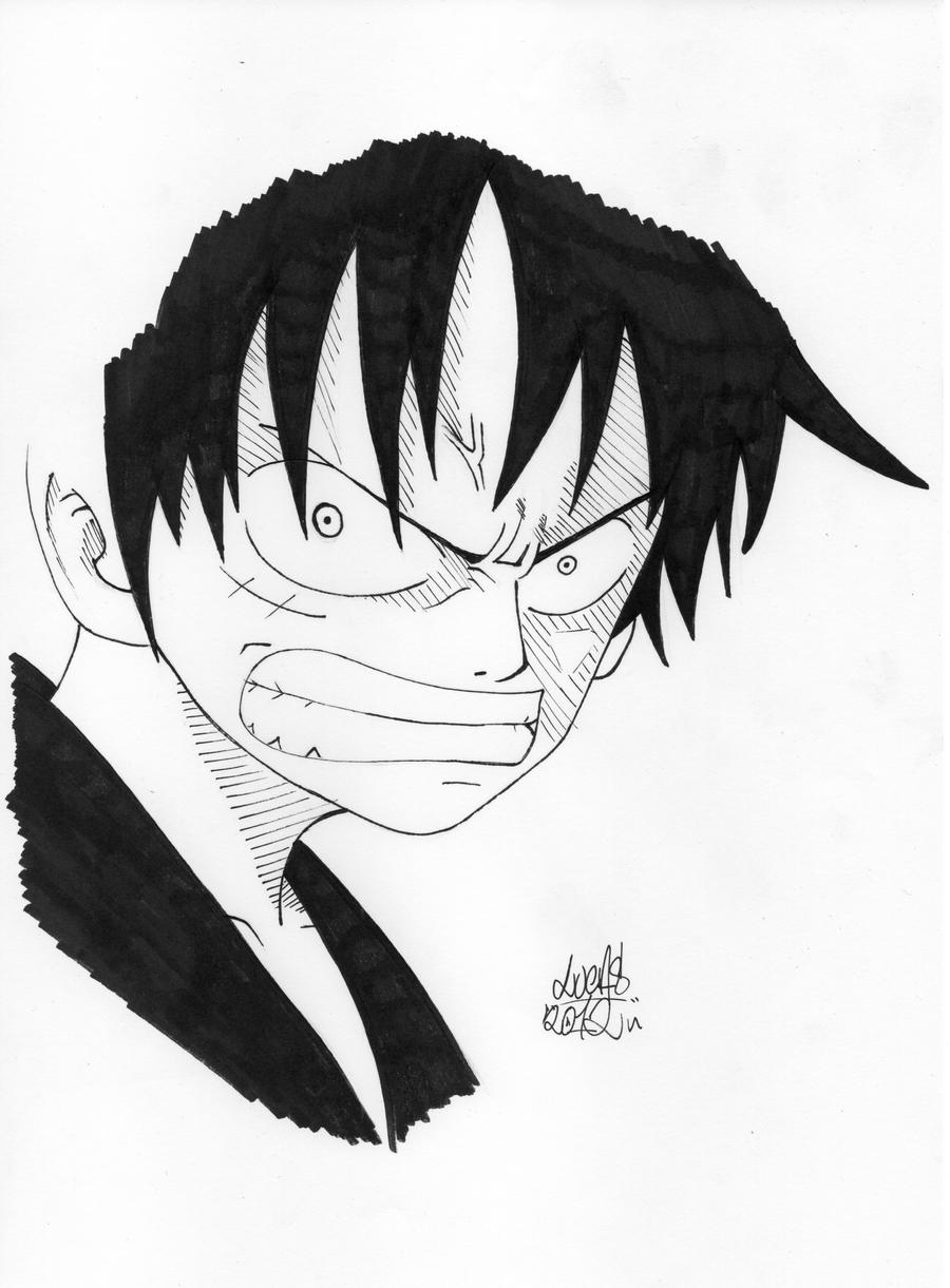 Luffy Angry By Cronos93b