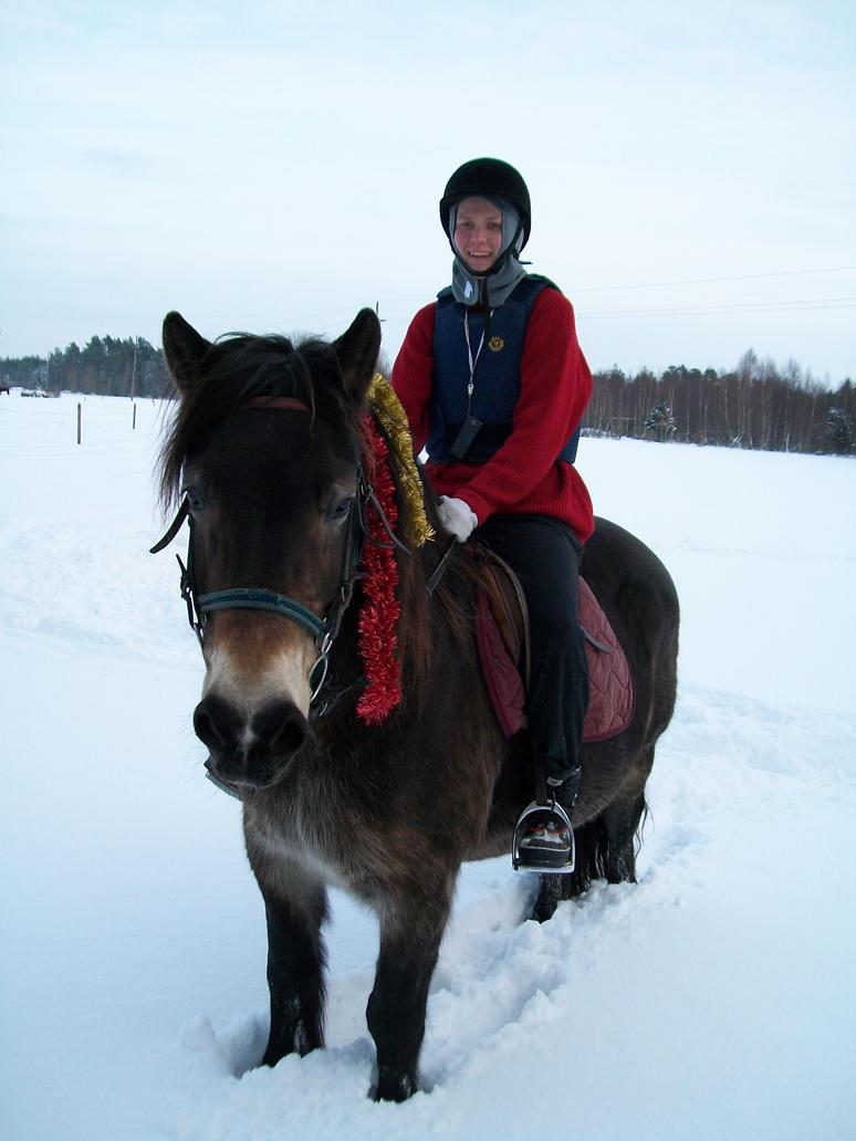 Me and my horse Belinda2 by Mew24u