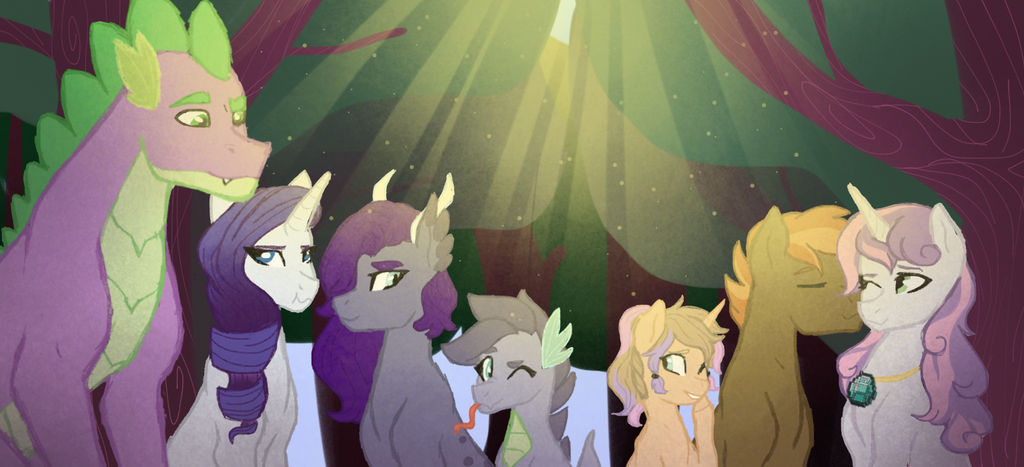 OLD: Rarity's Family w/ Shading