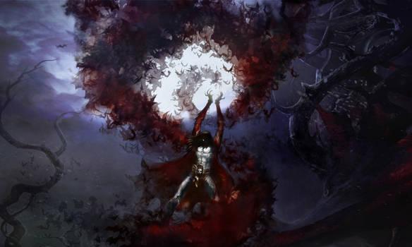 Lords of Shadow 2 -  Dracula Summons Bats by RenRenLotus