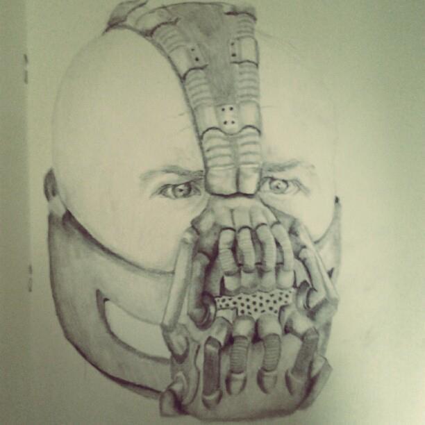 Bane Pencil Sketch Batman by Lalauralor on DeviantArt