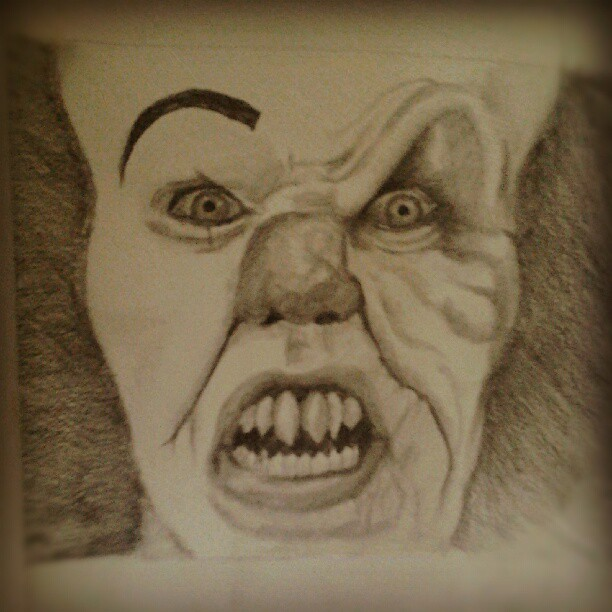 Pennywise the clown it pencil sketch by lalauralor