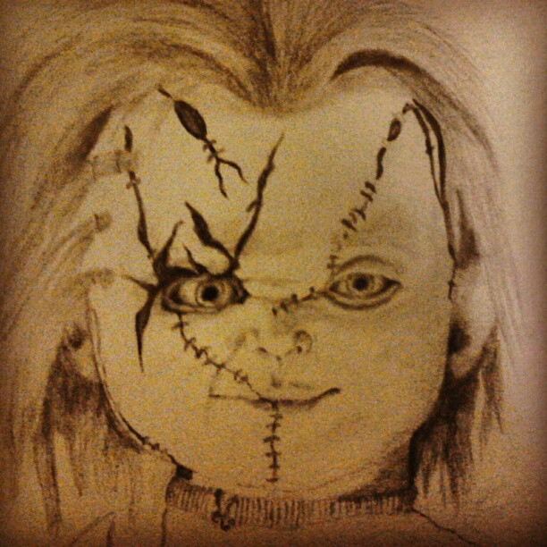 wanted to draw something for halloween chucky by lalauralor - Halloween Images To Draw