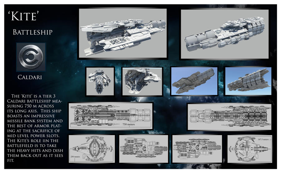 Kite caldari battleship by wbuxtonva