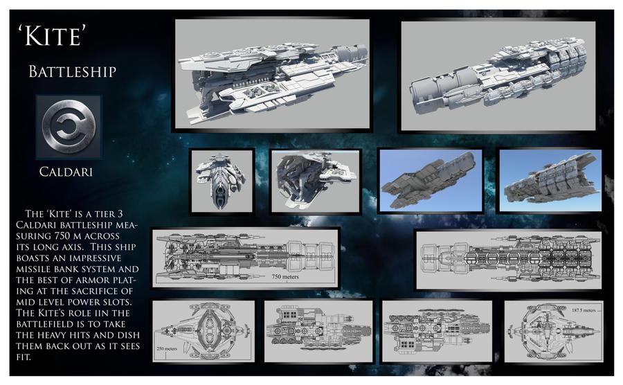 Kite caldari battleship by wbuxtonva
