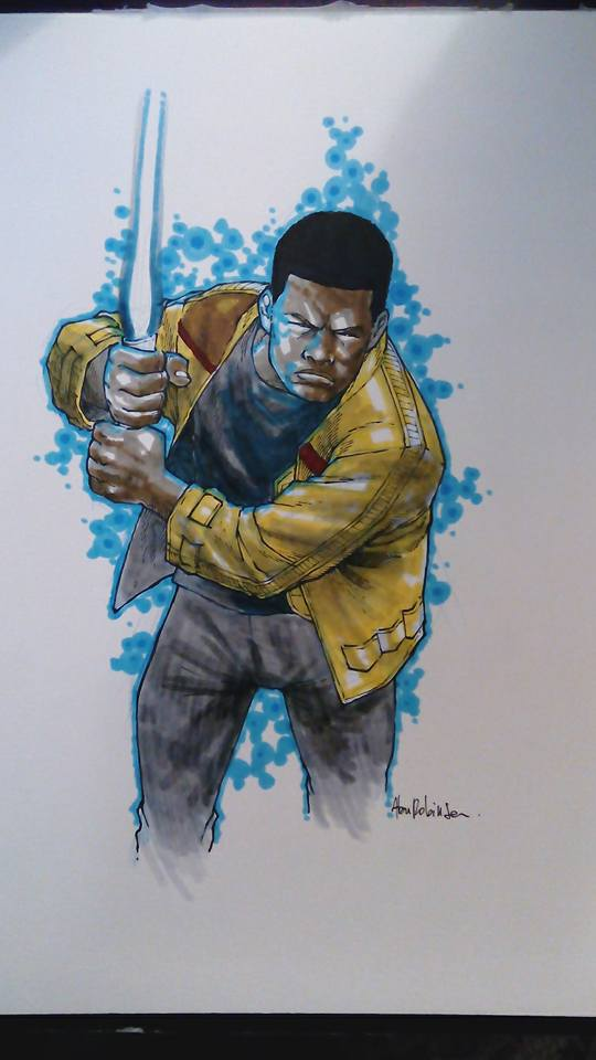 Finn Sketch Commission by alanrobinson