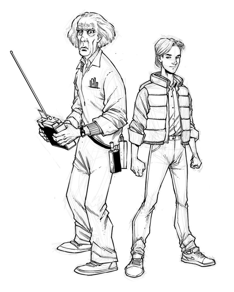Doc and Marty sketch by alanrobinson