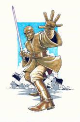 Mace Windu commission by alanrobinson