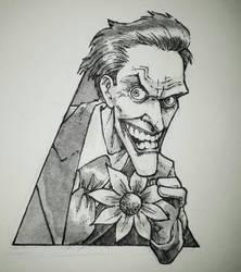 Inktober Joker by alanrobinson