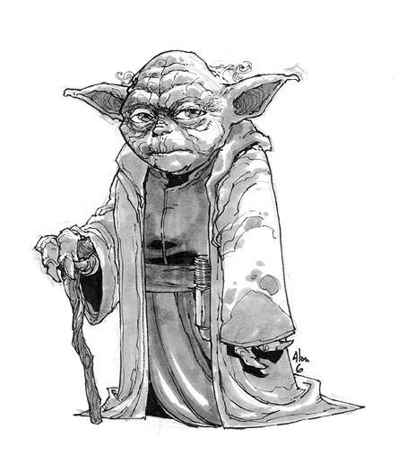 yoda sketch by alanrobinson