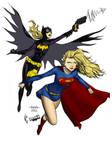MT Supergirl and Batgirl colors