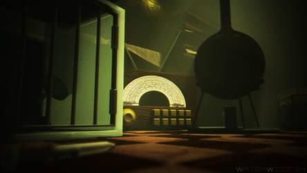 Bioshock-themed science lab render