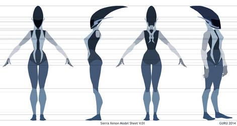 Sierra Xenon Character Model Sheet
