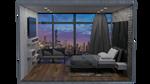 Sky High Bedroom by WistlerR