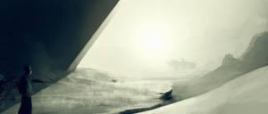 Otherworldy Landscape by FlyingApplesaucer