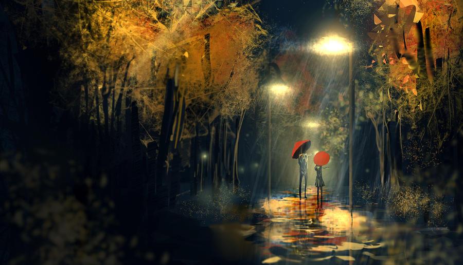 Rainy Day By Flyingapplesaucer On Deviantart