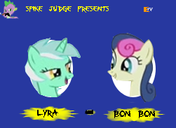 Spike Judge's Lyra and Bon Bon by Laegreffon