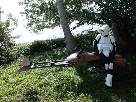 Speeder Bike and Scout Trooper