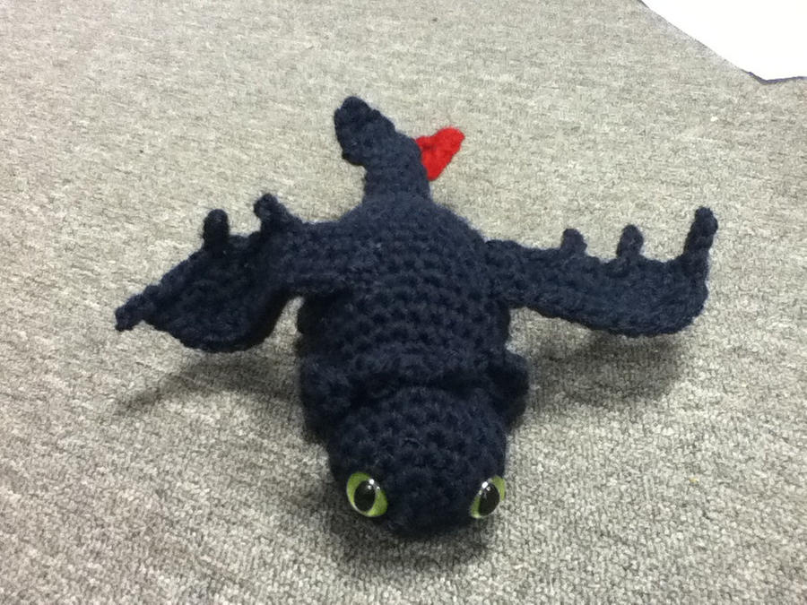 Knitting Pattern Toothless Dragon : Toothless amigurumi by ChronicReverie on DeviantArt