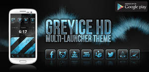 greyICE HD Launcher Theme (Feature Graphic) by greyOCELOTdesign