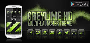 greyLIME HD Launcher Theme (Feature Graphic)