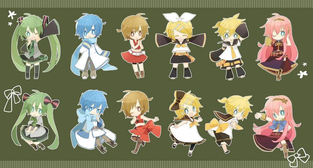 Vocaloid Chibi Group Wallpaper Vocaloid Chibi special...