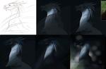 blue mane (progress) by Euqoraz