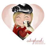 Purrfect Kitty Cuddles Valentine