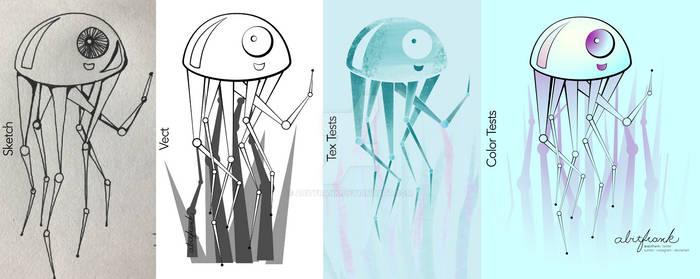 Mecha Jellyfish - Process
