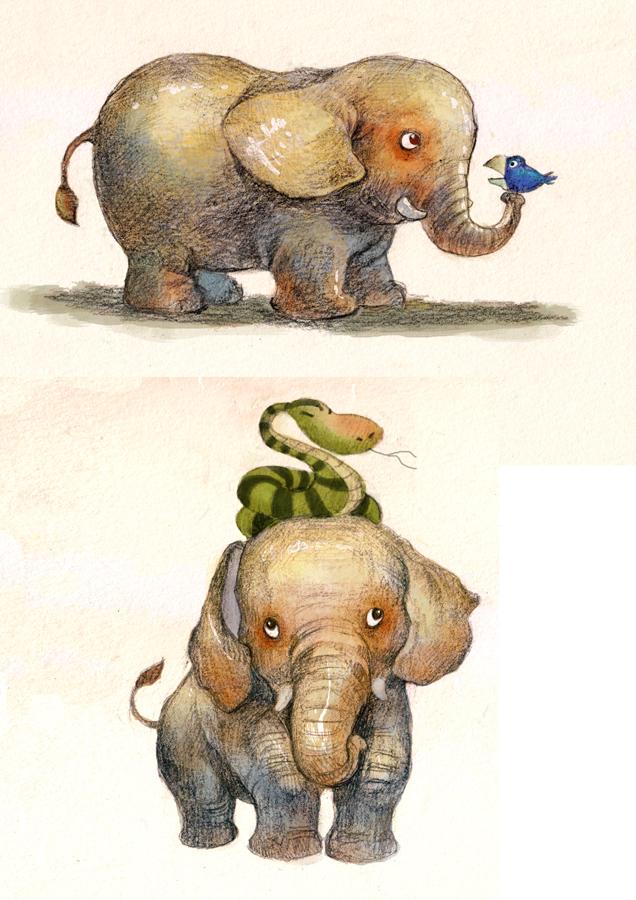 Small elephant by wantou