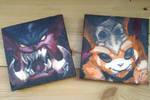 Mini and Mega Gnar icon canvas