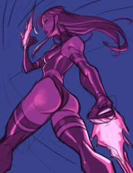 Sketch::Psylocke by KharyRandolph