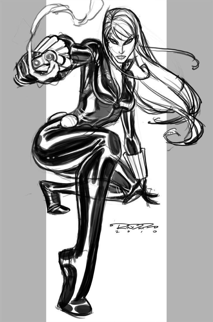 Sketch::Black Widow by KharyRandolph