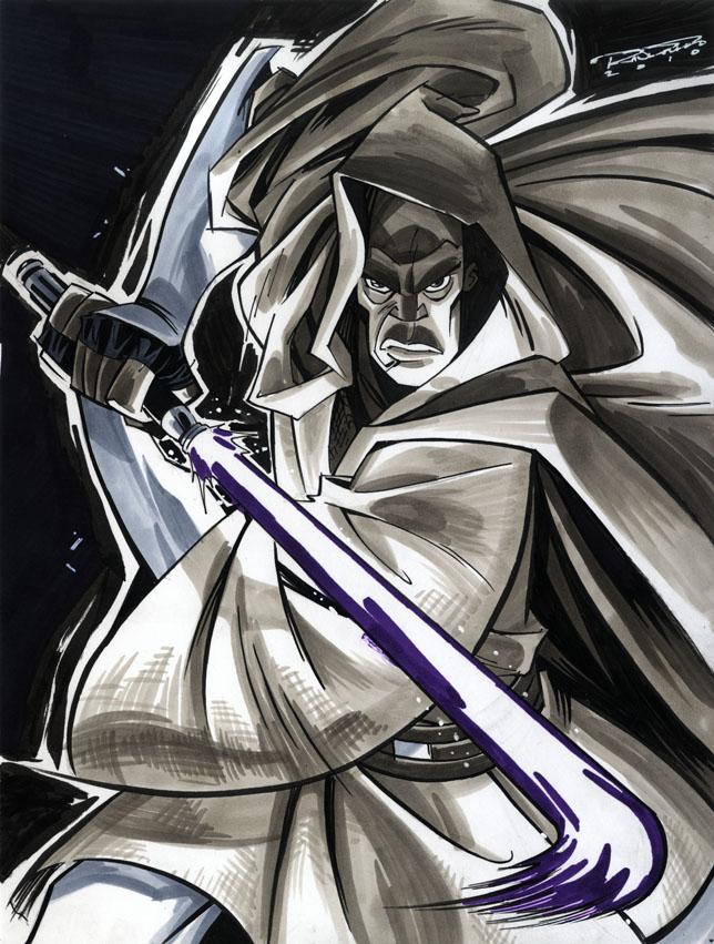 Sketch::Mace Windu by KharyRandolph
