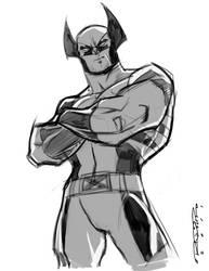 Sketch::Wolverine by KharyRandolph