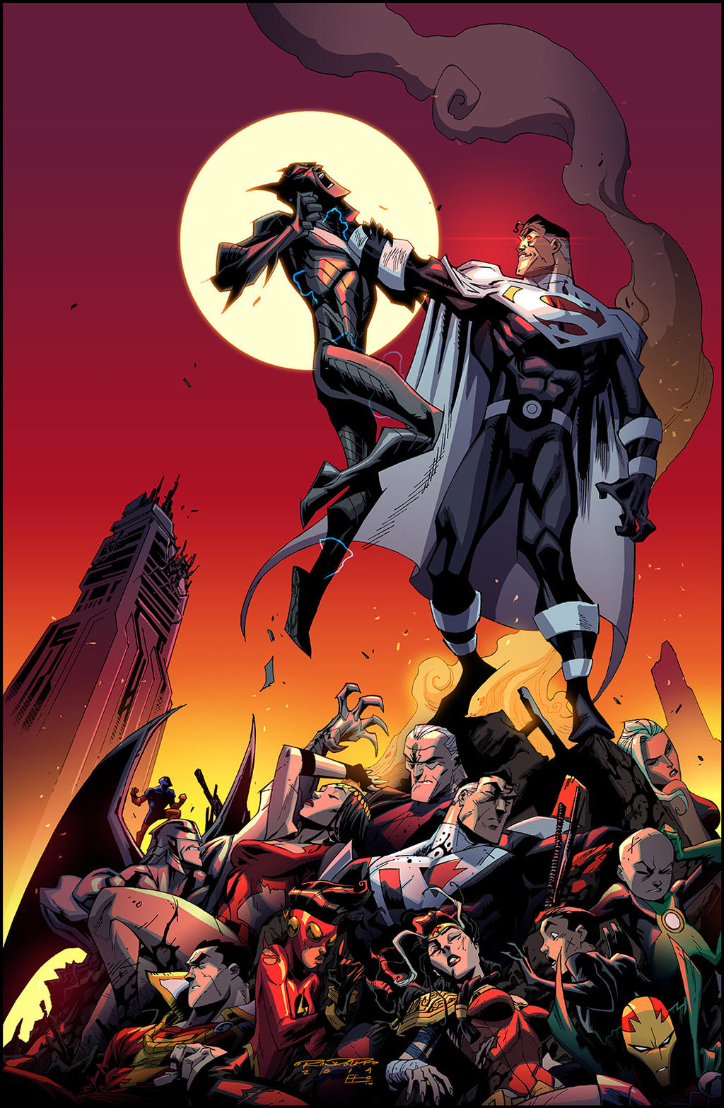Batman Beyond Universe 12 by KharyRandolph
